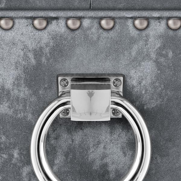 Silla Terciopelo Roble - Ascot Metal