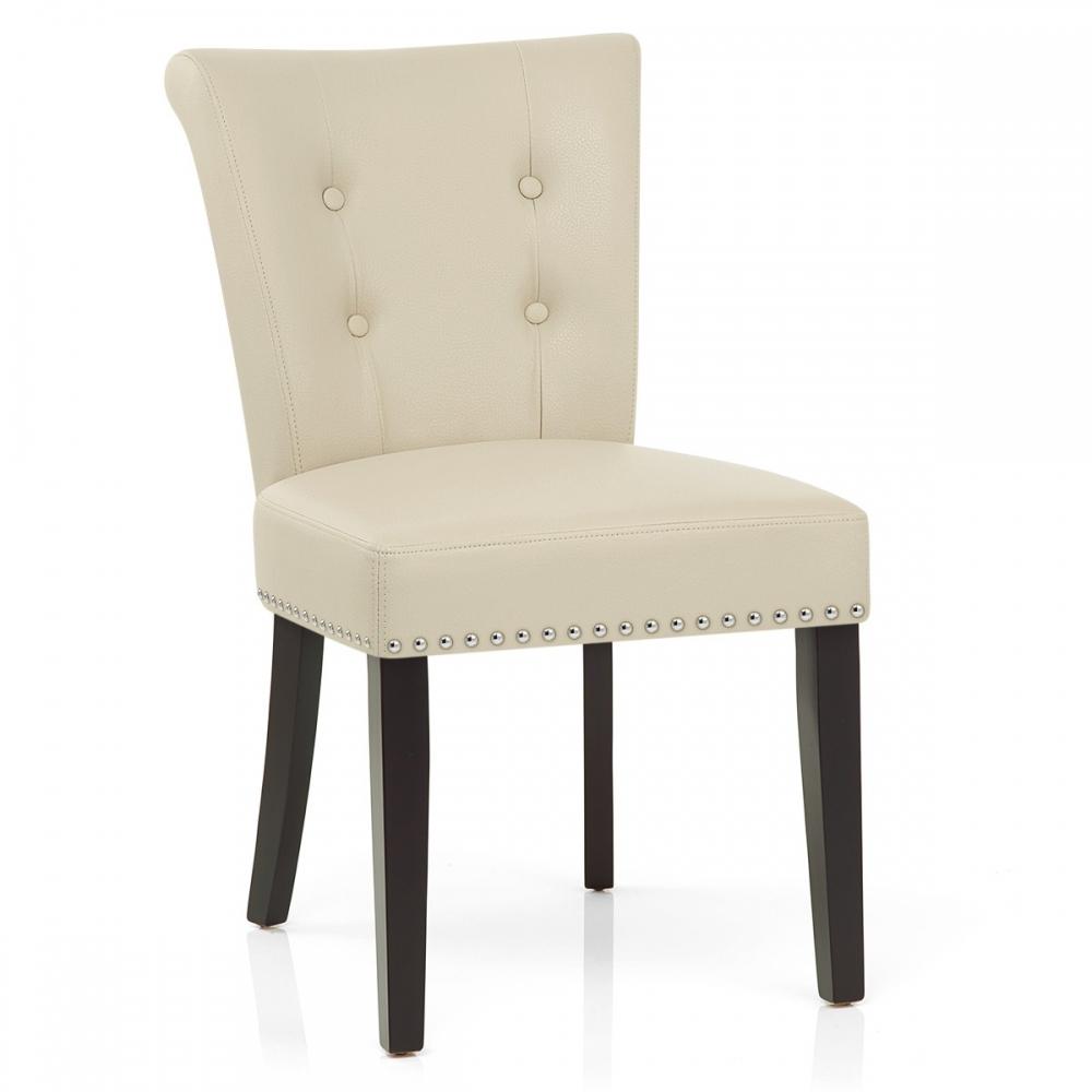 Silla de comedor buckingham tapizada en cuero aut ntico y for Comedor sillas de colores