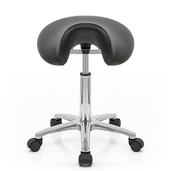 Sillín Polipiel Cromo - Saddle Deluxe Negro
