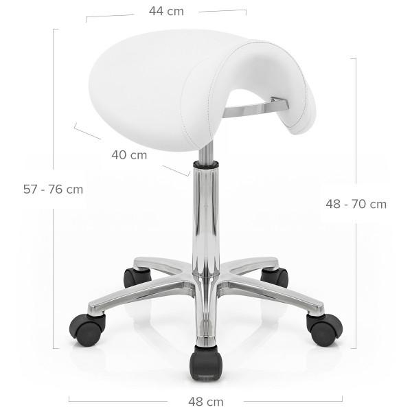 Sillín Polipiel Cromo - Saddle Deluxe Blanco
