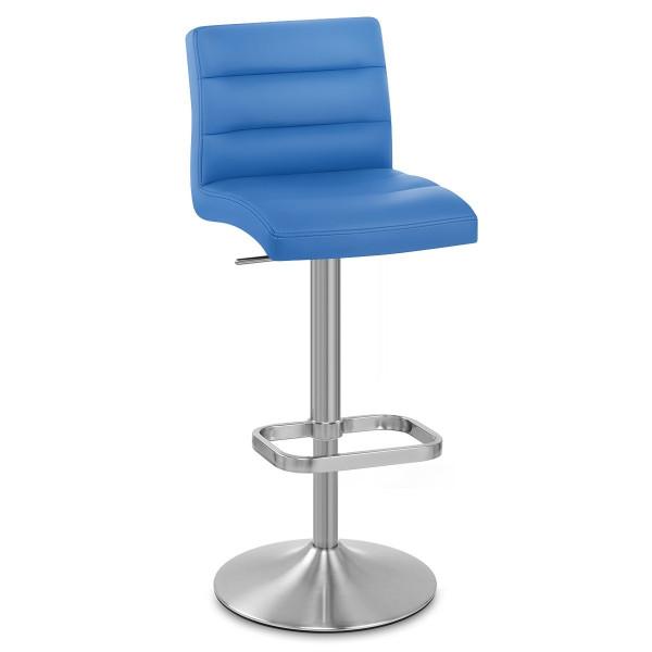 Taburete Polipiel Satinado - Lush Azul