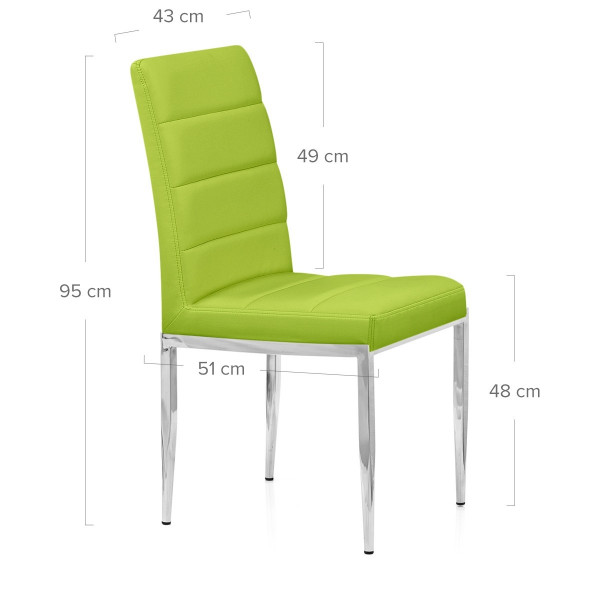Silla Polipiel Cromo - Tauro Verde