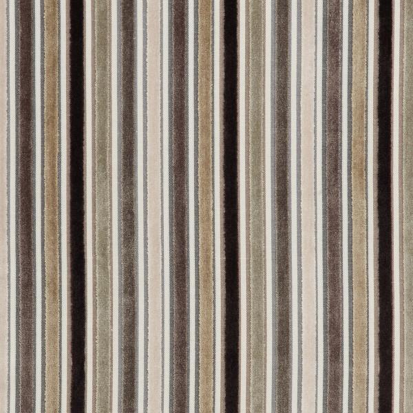 Taburete Tela Roble – Carter Crema y marrón rayas