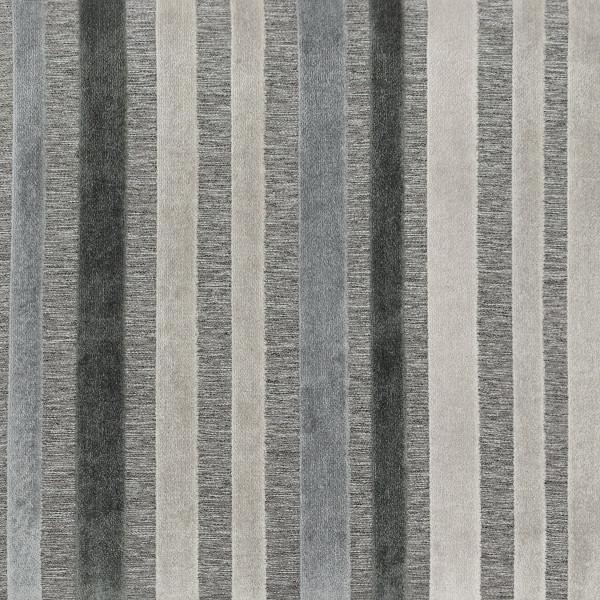 Taburete Tela Roble - Carter Gris y azul rayas