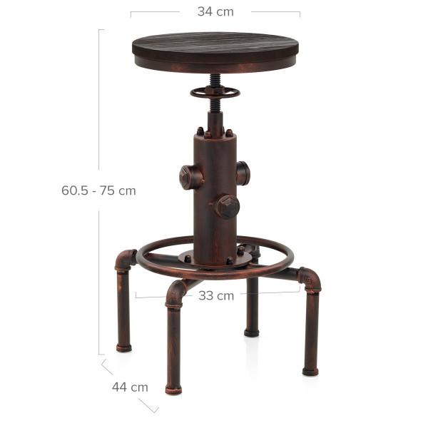 Taburete Madera Metal - Hydrant Cobre