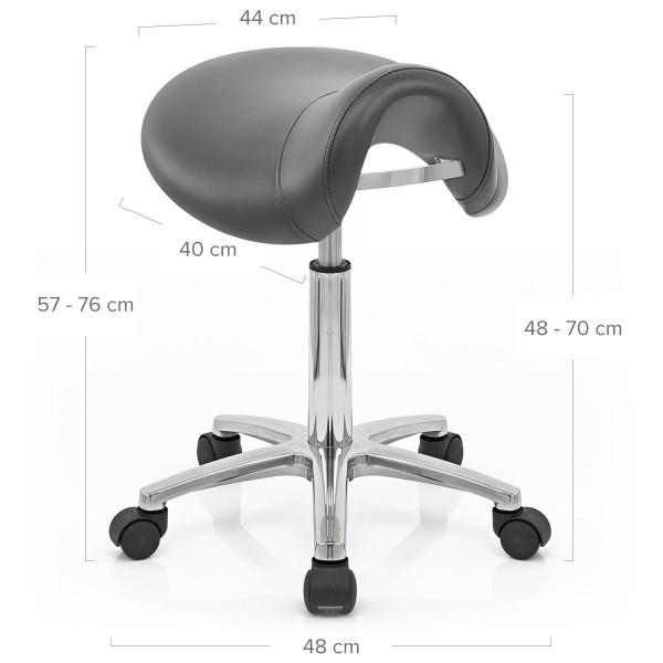 Sillín Polipiel Cromo - Saddle Deluxe